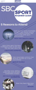 Five reasons to attend Sport Business Chain conference